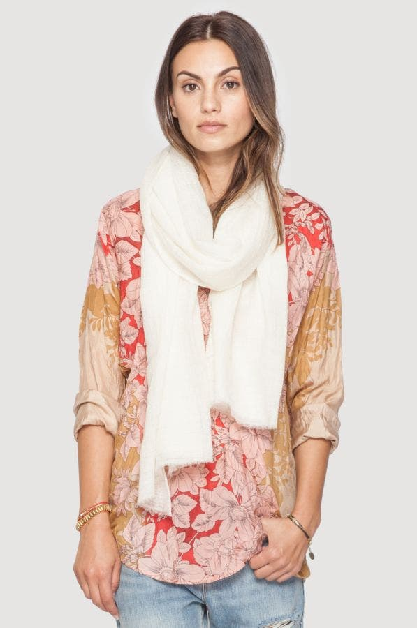 Solid White Scarf