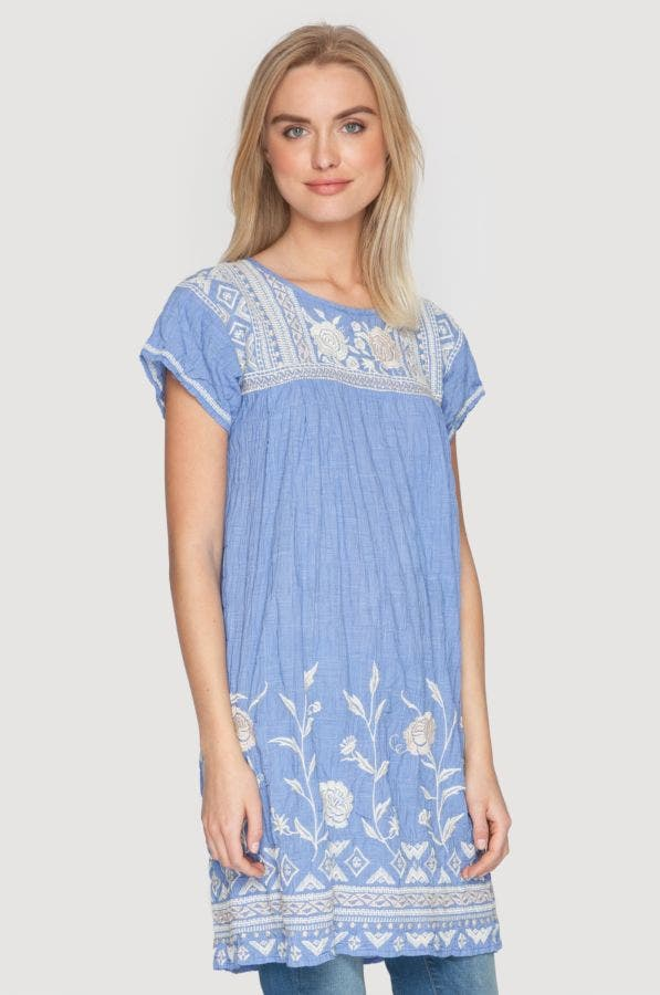 Odene Pleated Peasant Tunic