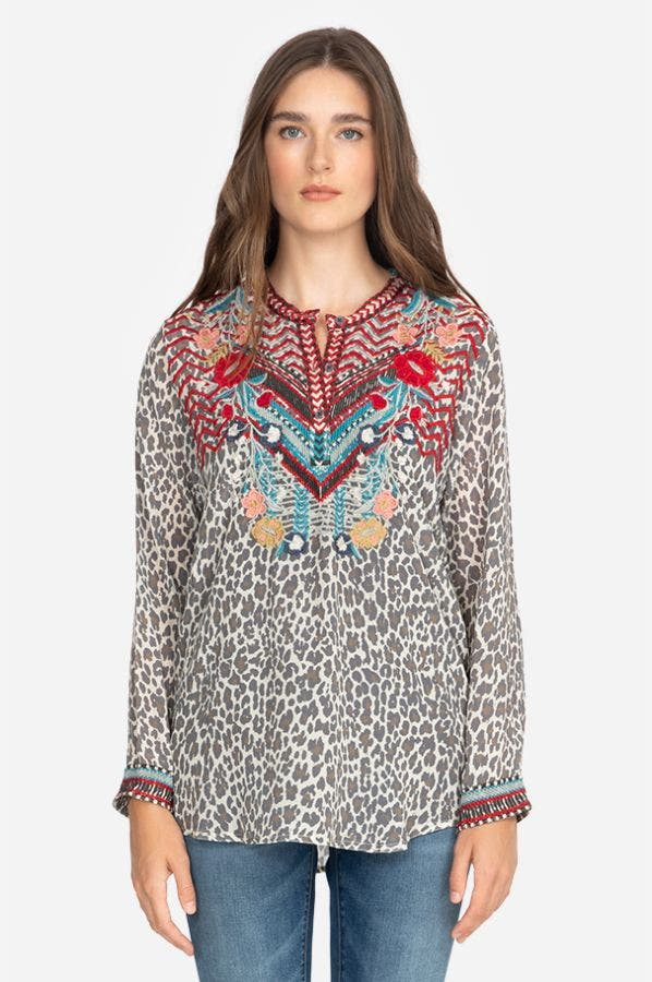 NAVILA SILK BLOUSE