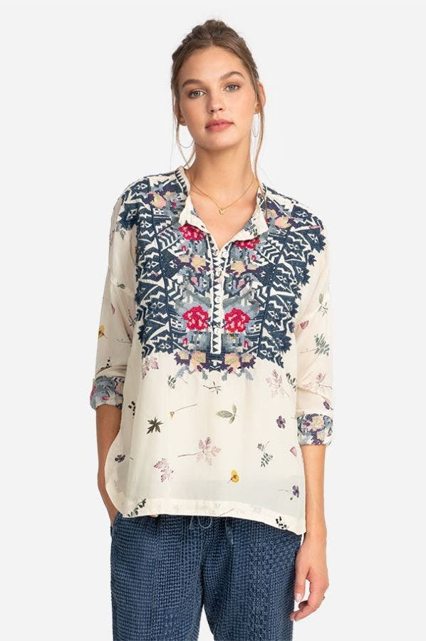 NOSTRA SILK BLOUSE