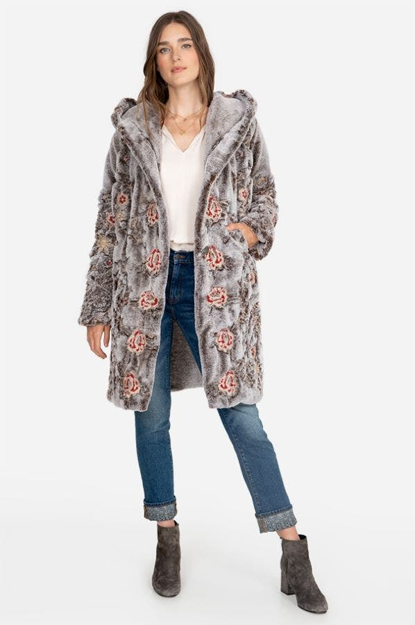 LOREIDO FAUX FUR COAT