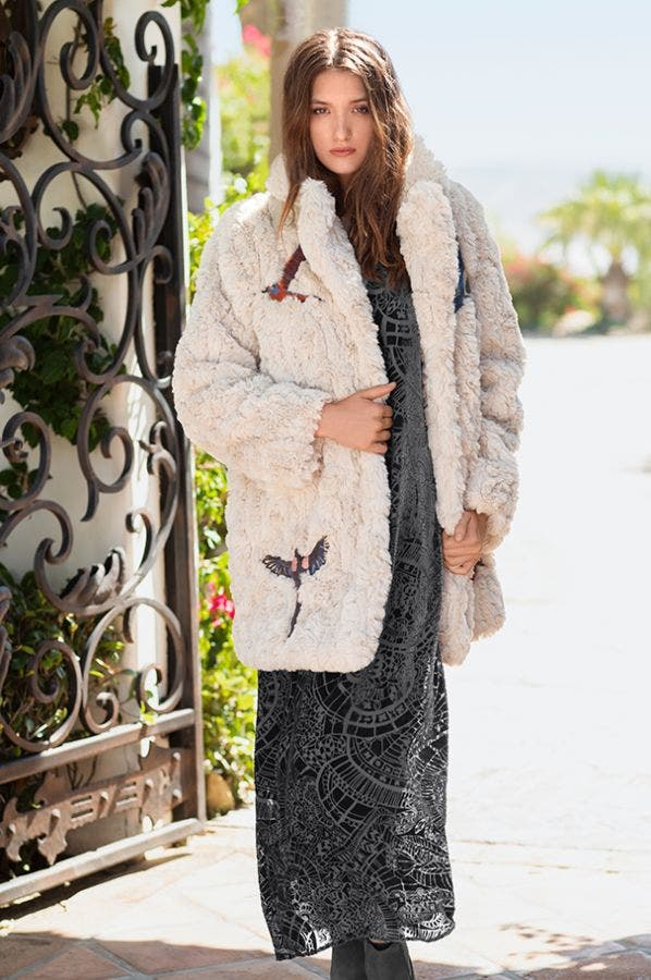 WREN FAUX FUR COAT