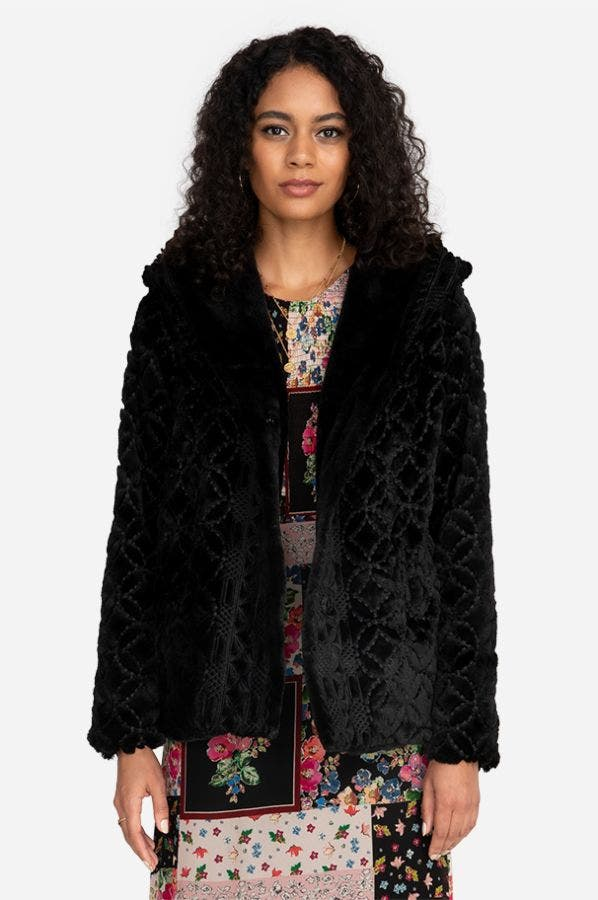 ATRIUM FAUX FUR COAT