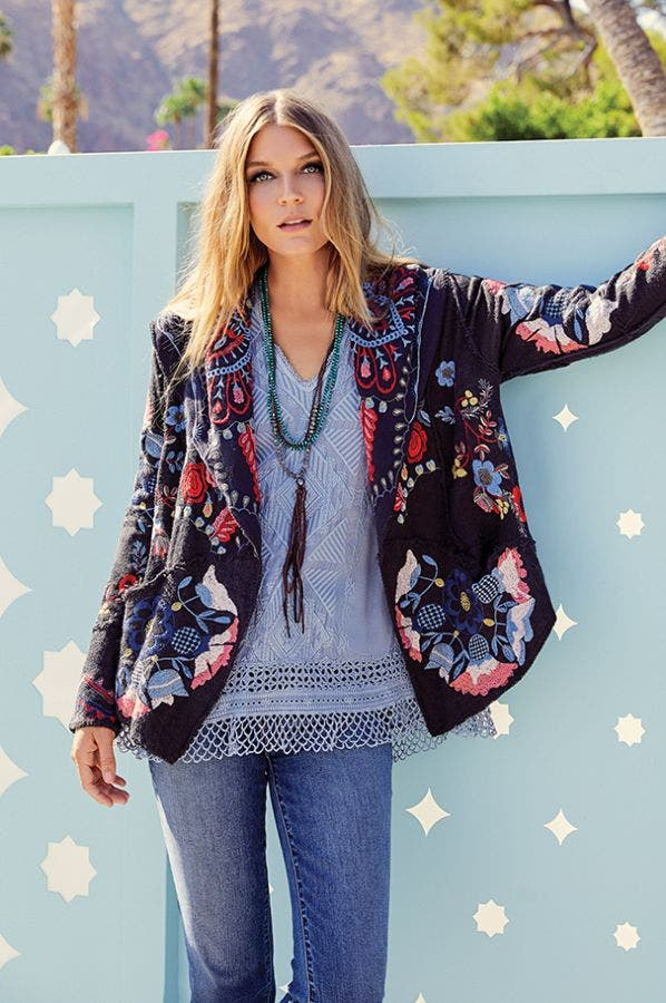 SYRIL PATCHWORK CARDIGAN