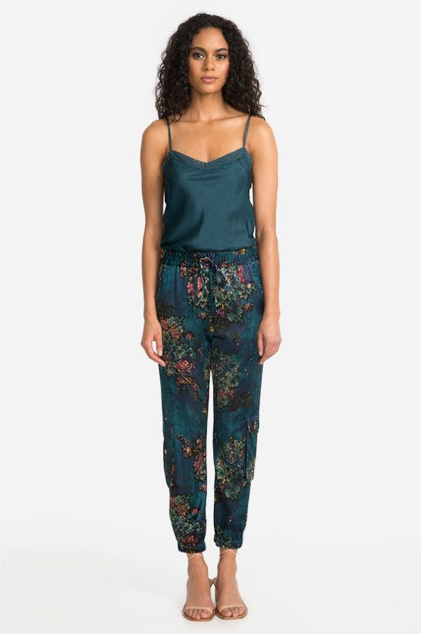 MARCELLE STRETCH SILK PANT