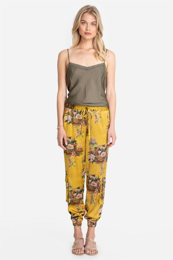 POMPETTE STRETCH SILK PANT