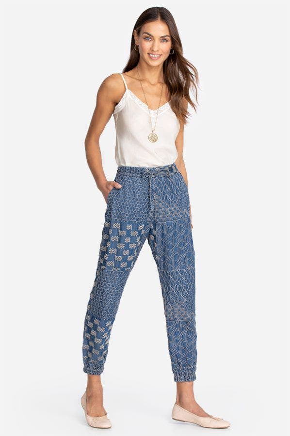 CHER EMBROIDERED DENIM PANT