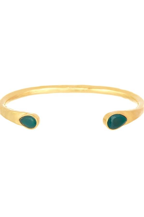 Water Drop 18K Gold Plated Bangle