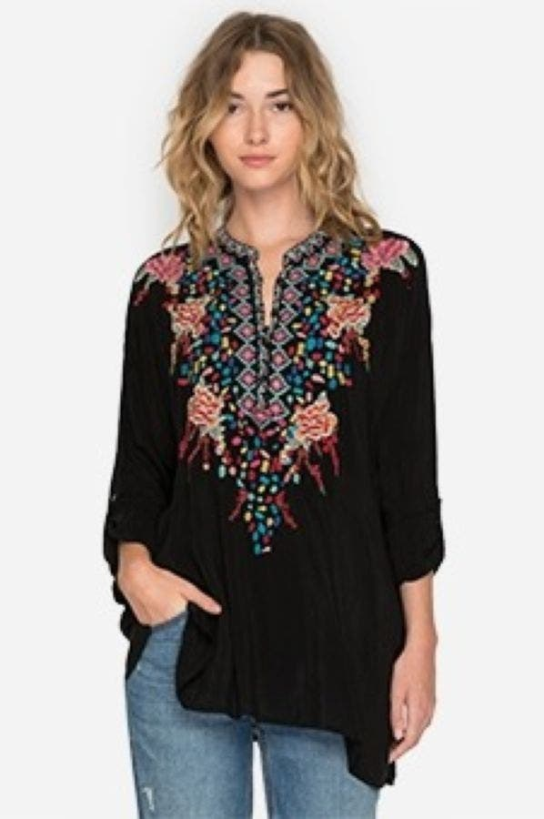Gemstone Blouse - Plus Size
