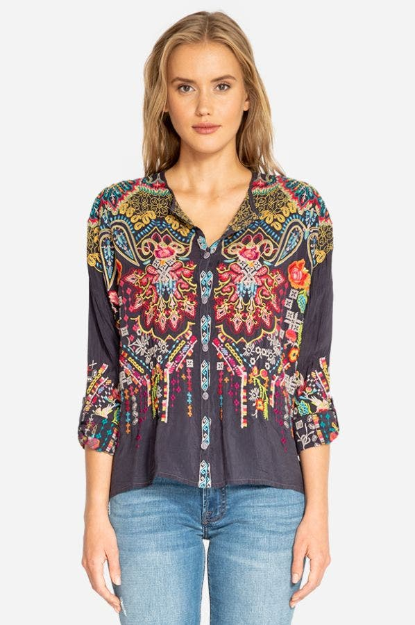 VALLEY BUTTON DOWN BLOUSE