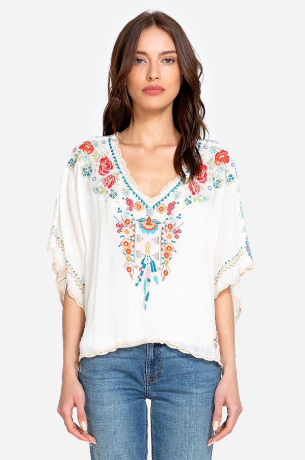 KLARAH PRINT BACK BLOUSE