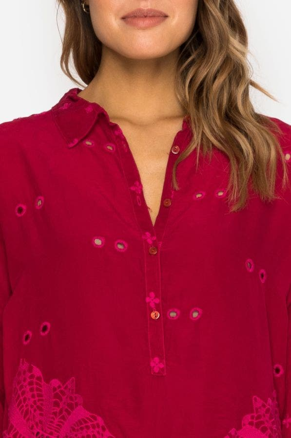 Whitley Scalloped Blouse