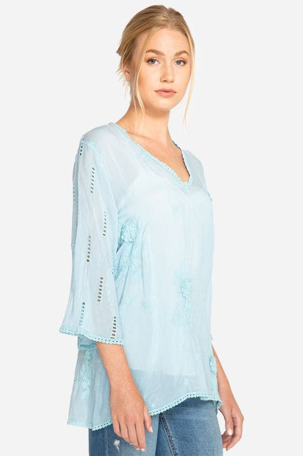 CHANSY V-NECK TOP-PLUS SIZE