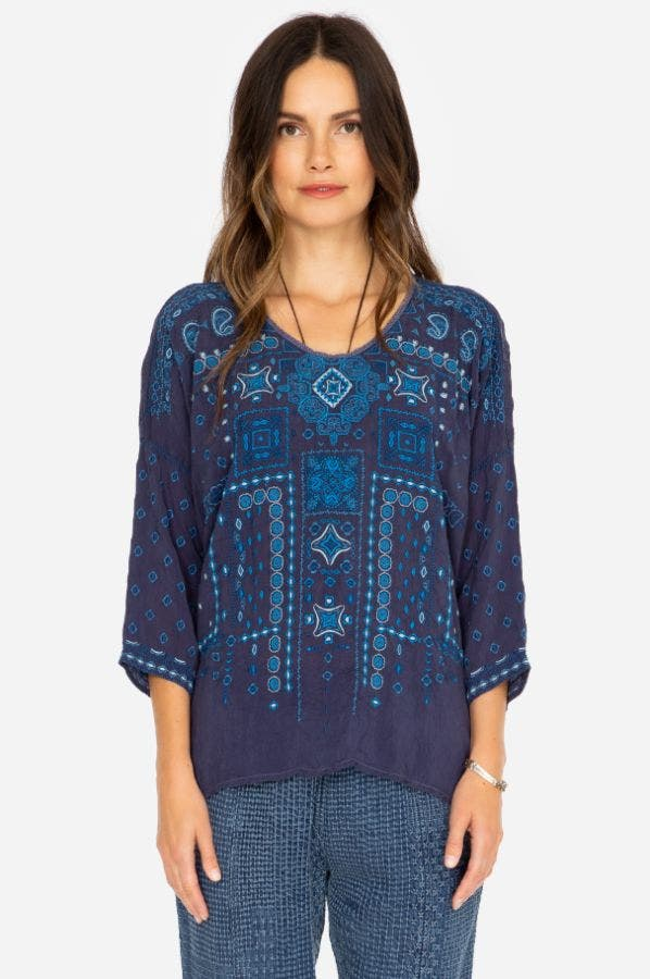 AMARU BLUE BLOUSE