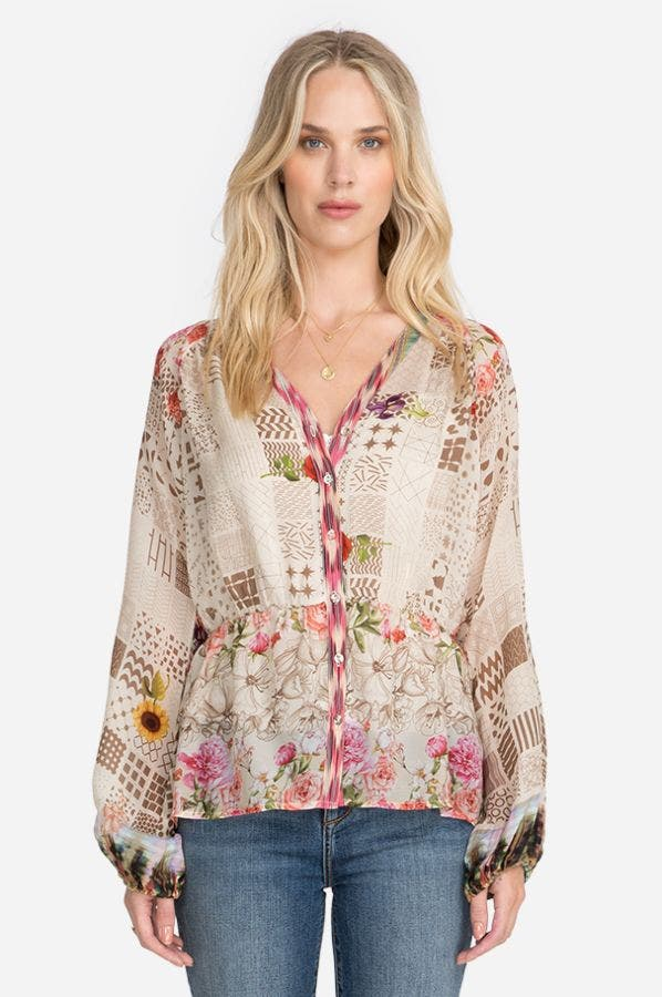 FAWN BUTTON-UP