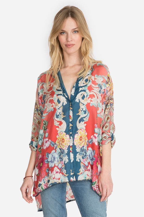 DUSK BUTTON-DOWN BLOUSE