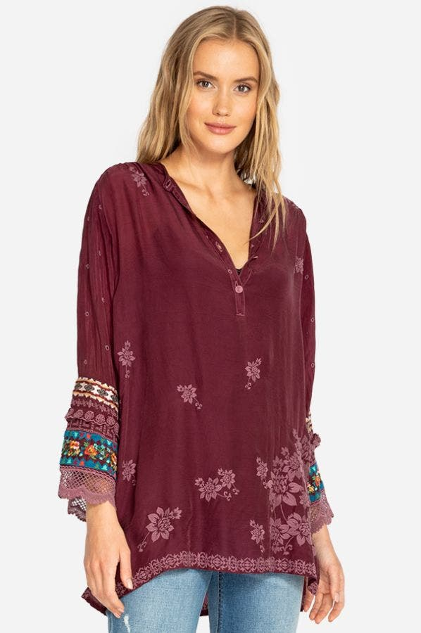 FAYAN PATCHWORK SLEEVE TUNIC