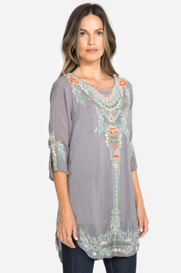 OLIVE BLOSSOM TUNIC-PLUS SIZE