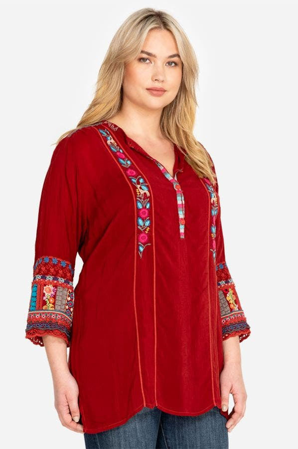 SWIRL PATCHWORK TUNIC-PLUS SIZE