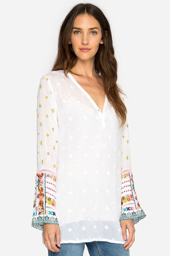 SIMPLE ALL OVER TUNIC-PLUS SIZE