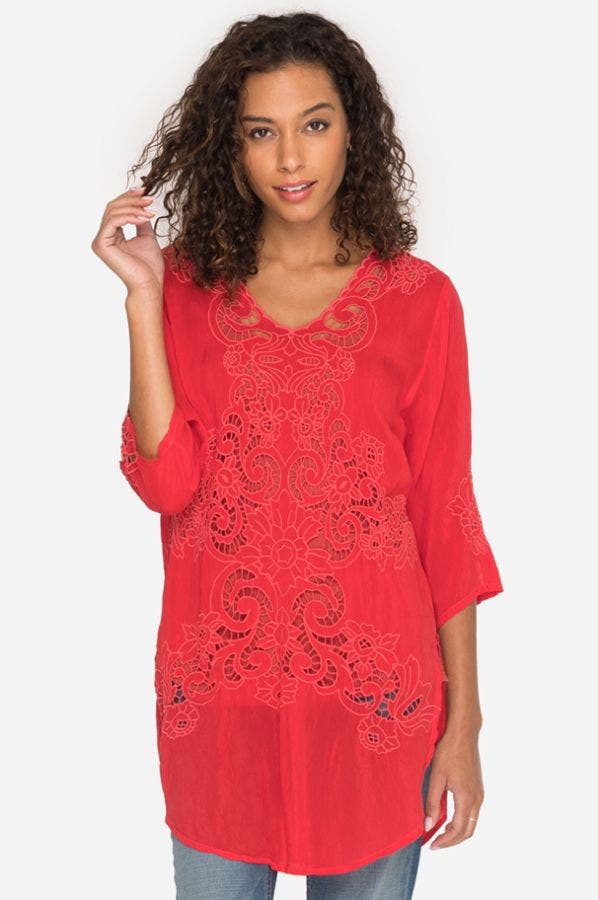 ARLENE APPLIQUE TUNIC