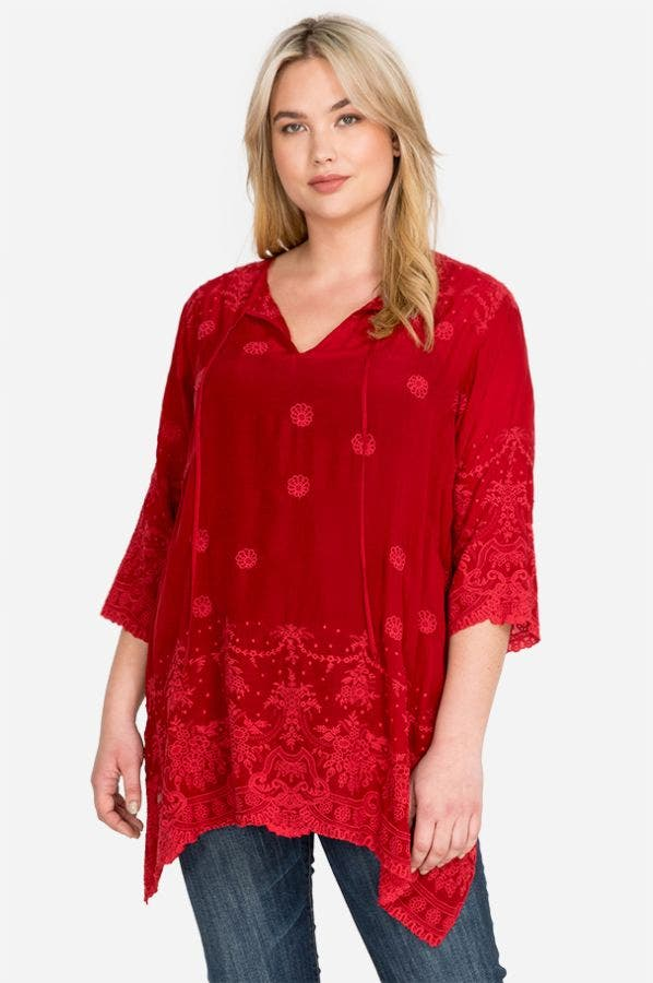 ANTIK LACE FLARE TUNIC-PLUS SIZE