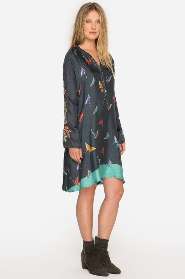 Rainbow Fly Embroidered Dress