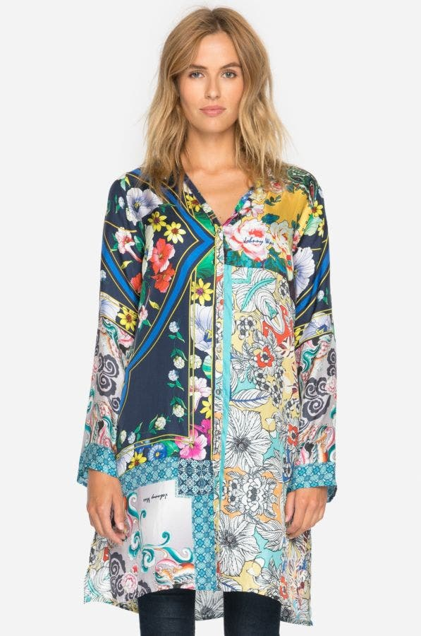 Multi Print Cardigan - Plus Size