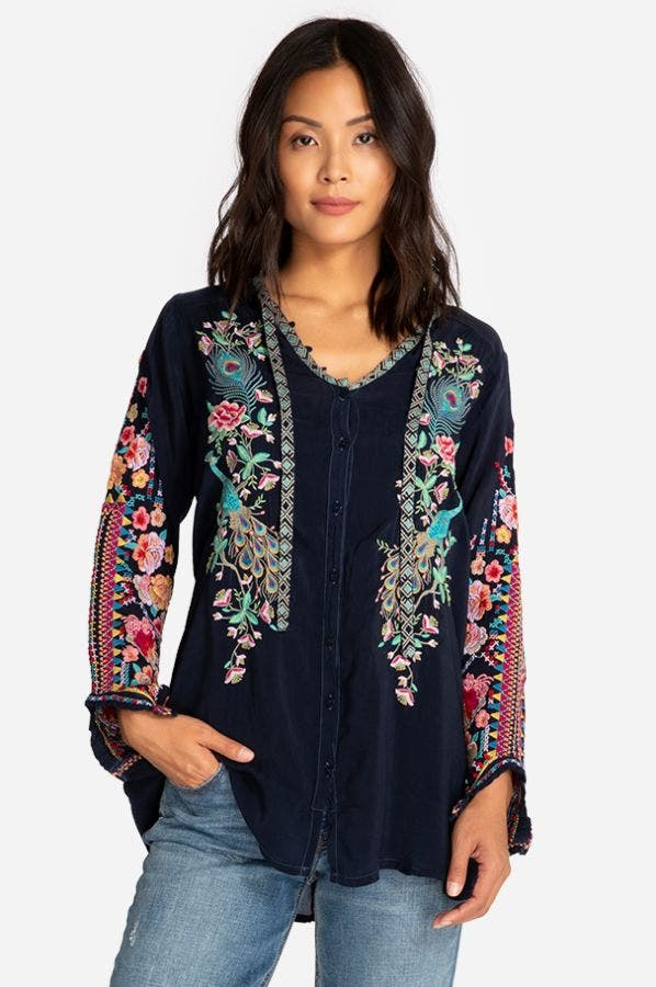 Peacock Sable Blouse