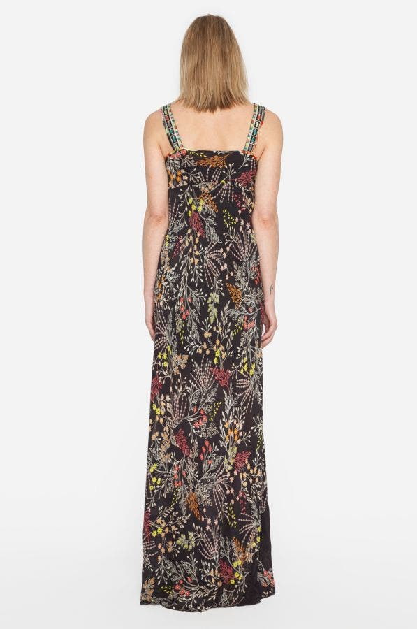 Mixed Prints Maxi Tank Dress