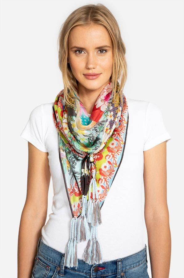 FLORAL EDGE SCARF