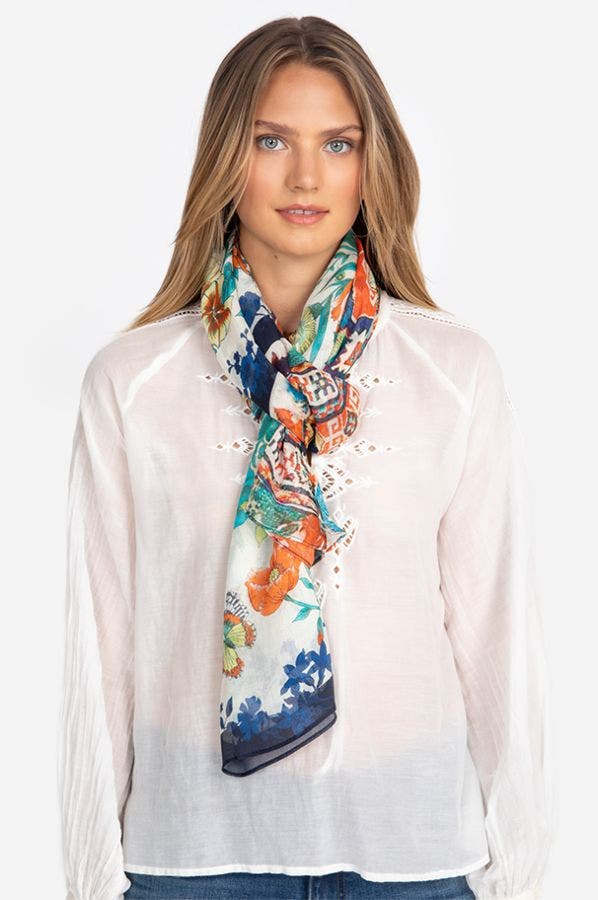 FLORAL DUAL SCARF