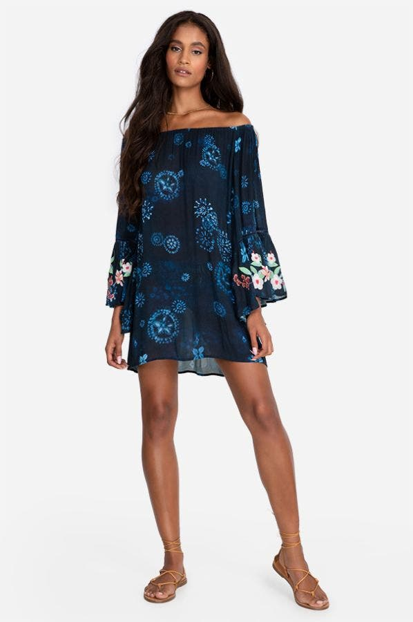 ANNIA OFF-THE-SHOULDER COVER UP-PLUS SIZE
