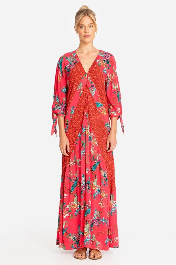 MALAKYE PANELED MAXI COVER-UP