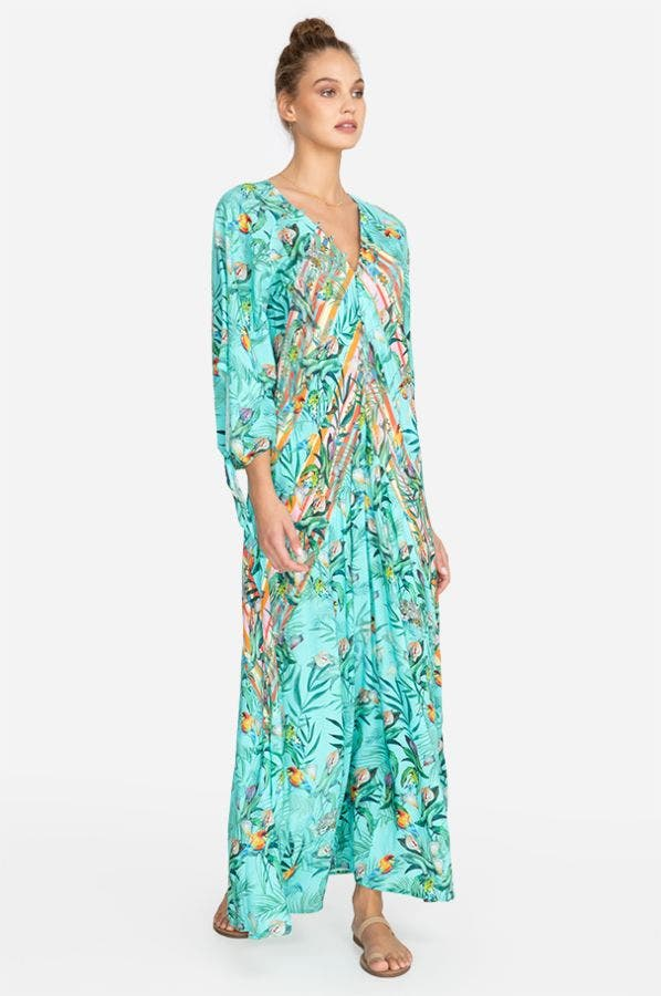 TAINA PANELED MAXI COVER UP