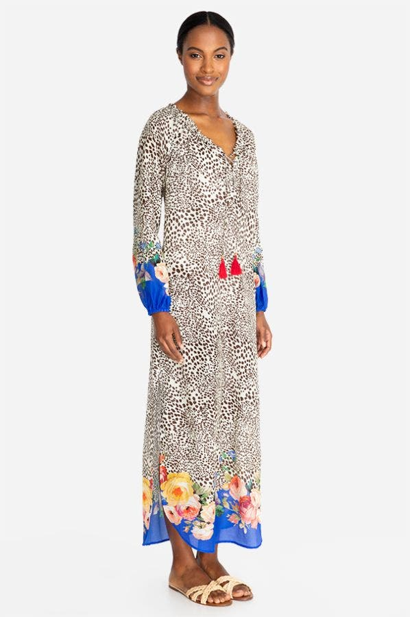 OKSANA LONG MAXI COVER-UP