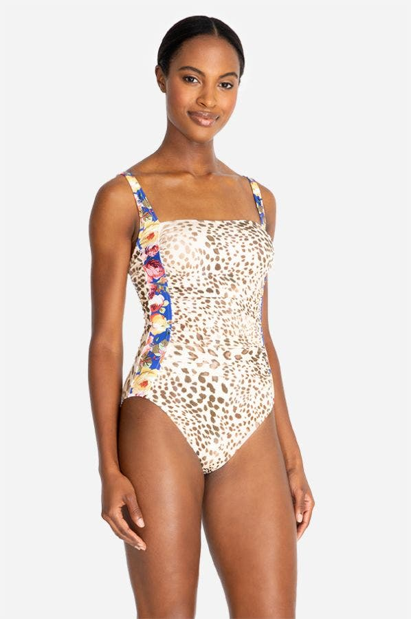 OKSANA BANDEAU ONE PIECE-PLUS SIZE