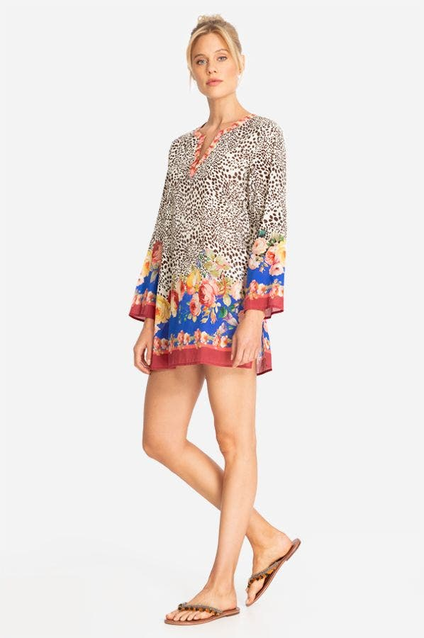 OKSANA LONG SLEEVE SHORT COVER UP