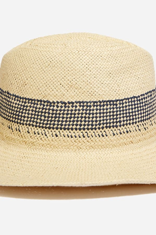 GINGHAM INSET SUNHAT