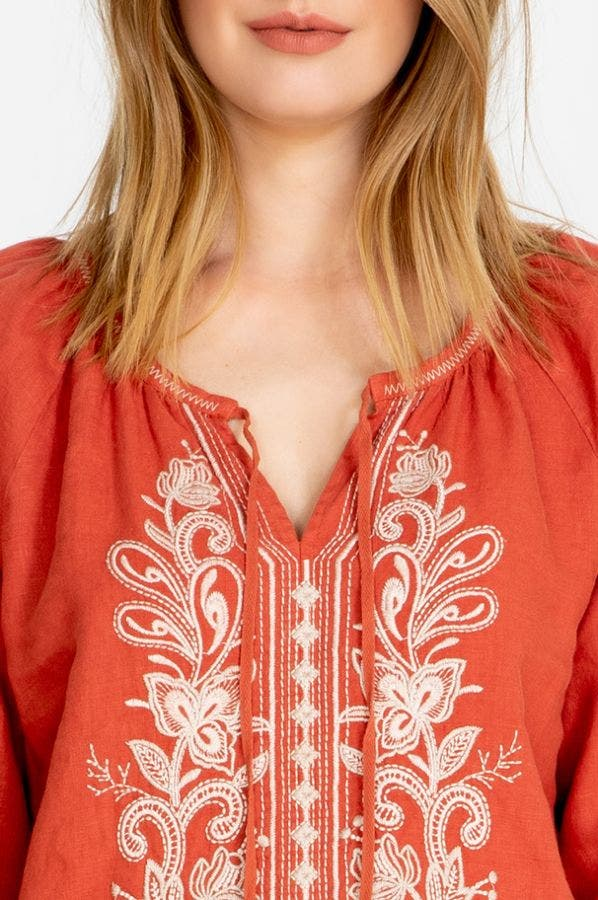 JEWEL PEASANT BLOUSE