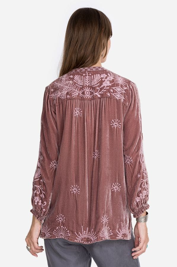 DYLAN DOUBLE TASSEL PEASANT BLOUSE
