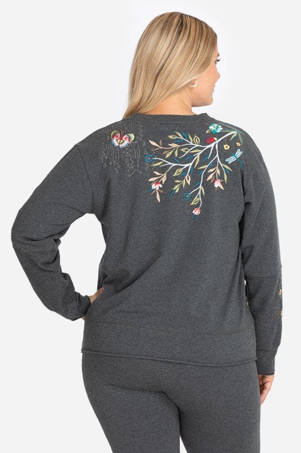 GEN FRENCH TERRY MIX PULLOVER-PLUS SIZE