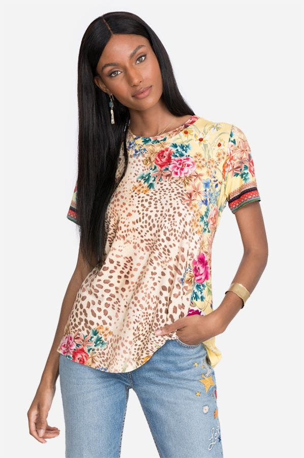 WILDFLOWER FAVORITE SHORT SLEEVE CREW NECK SWING TEE