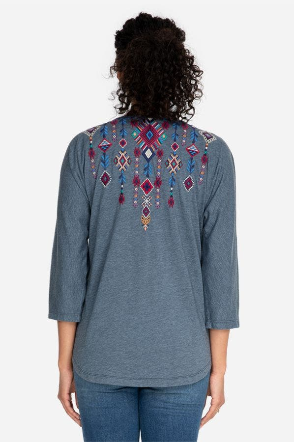 RUAH KNIT LONG SLEEVE HENLEY