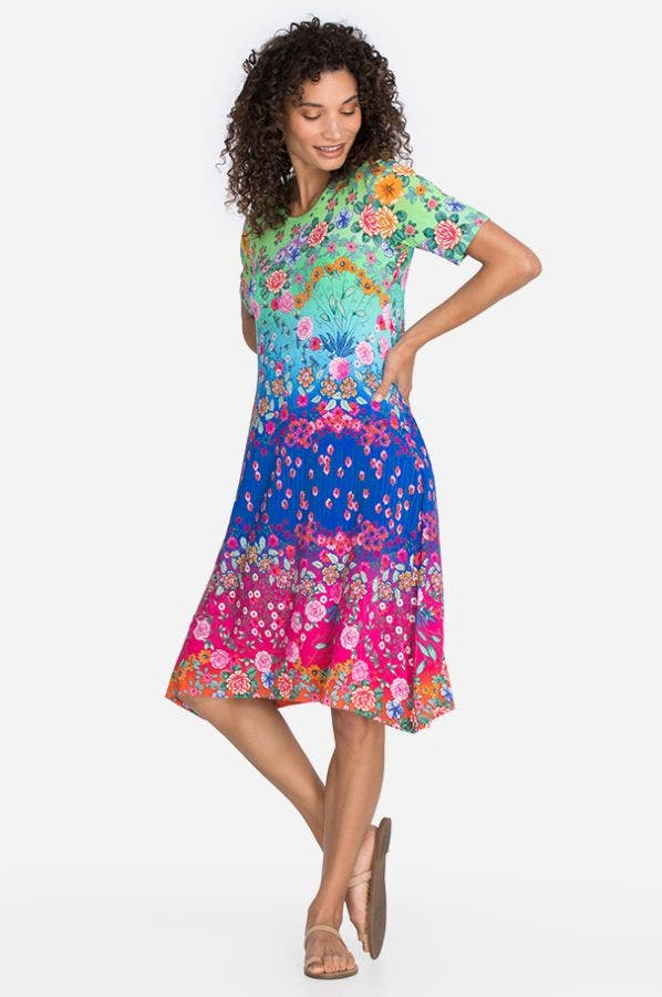 RAINBOW FIELD SWING DRESS