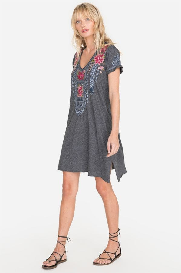 DAVIS DRAPE TUNIC DRESS