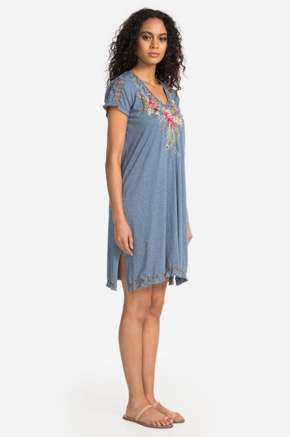 KAIRA DRAPED TUNIC DRESS