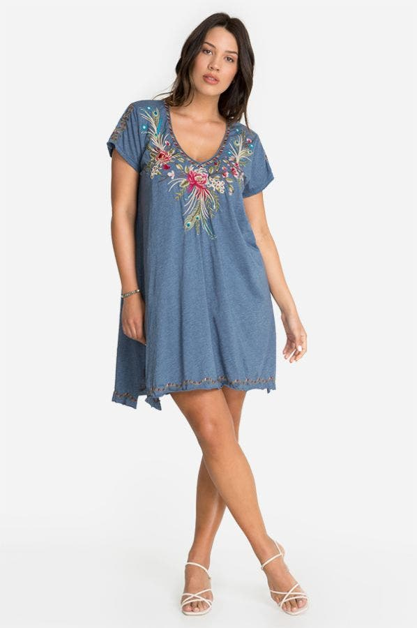 KAIRA DRAPED TUNIC DRESS-PLUS SIZE