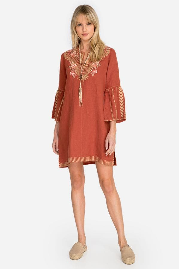 RIANNE FLARE SLV TUNIC DRESS
