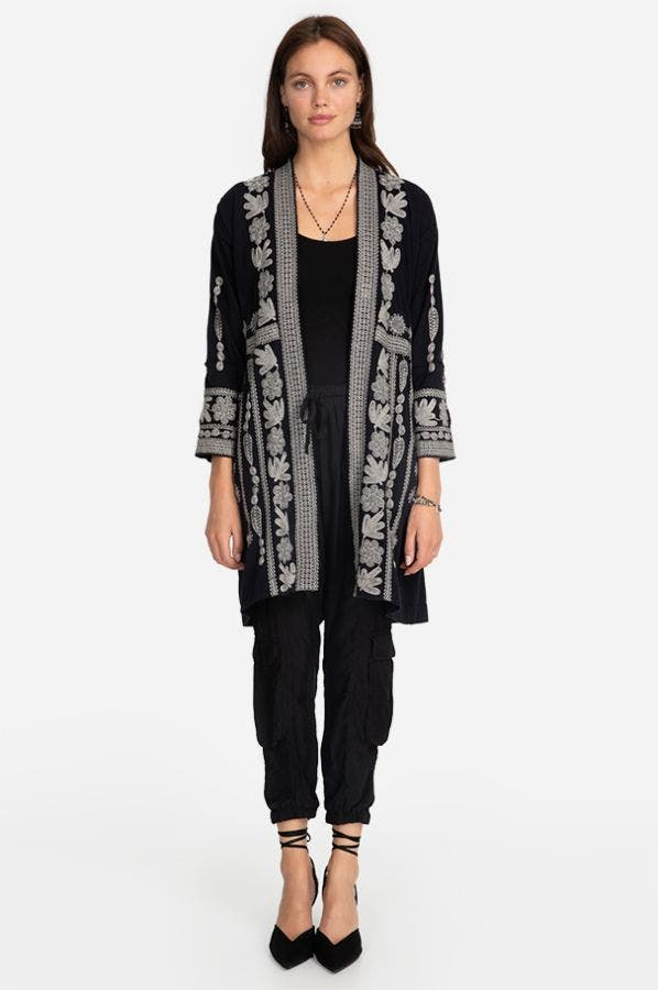 YASMINE KNIT DUSTER COAT